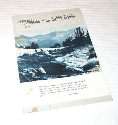 Backpacking in the Sierra Nevada - 1965 Revised Edition Booklet - 20 pgs
