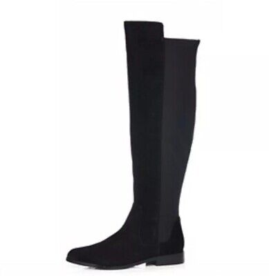 9066766f8ca CLARKS DAINA RAE Over The Knee Leather Boot Standard Fit Black Suede ...