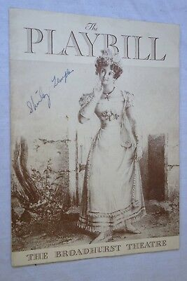 1944 Shirley Temple Real Autograph on Playbill from Broadhurst Theatre