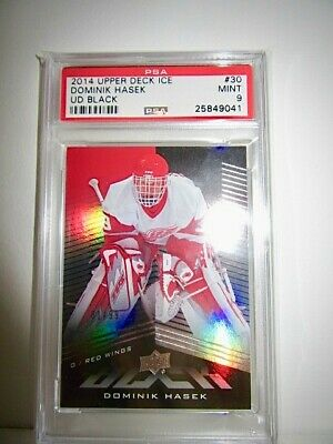 2014 Upper Deck Ice Dominik Hasek #30 Ud Black Psa Mint 9!! Hof! 1/99! Dominator