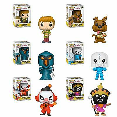 Funko SCOOBY DOO 6pc POP SET Shaggy Shadow Space Kook Witch Dr Ghost Clown MINT