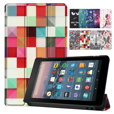 For Amazon Kindle Fire 7 2019 9th Generation Smart PU Leather Hard Tablet Case