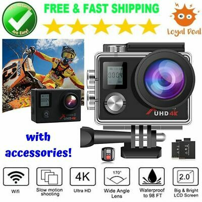 Campark Action Camera 4K Wifi Waterproof Ultra HD Underwater with Accessories