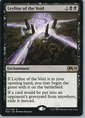 Magic The Gathering Core Set 2020 Rare Card #107 Leyline Of The Void