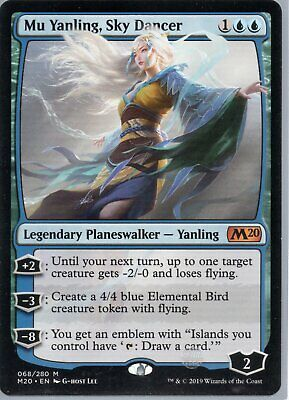 Magic The Gathering Core Set 2020 Mythic Rare Card #068 Mu Yanling Sky Dancer