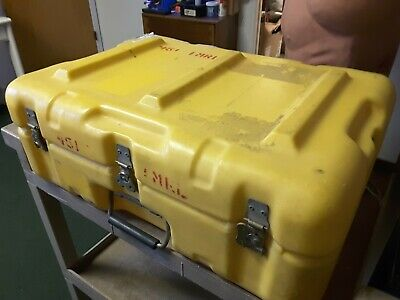 "HARDING INDUSTRIAL Yellow Plastic Rugged Hard Case Waterproof 22""×8""×16"" $$99"