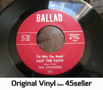♚ CITATIONS 'Keep The Faith' NM ORIGINAL Northern Soul 45 LAST ONE !!
