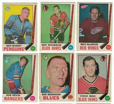 1969-70 OPC NHL Hockey Lot - Pick only the cards that you need - $2 each vg-/vg
