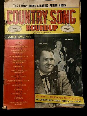 Country Song RoundUp, Nov. 1962, No. 78, Early Willie Nelson, Photos & Lyrics