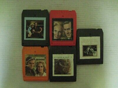 5 Vintage Tammy Wynette & George Jones 8 Track Tapes-In Good Condition!