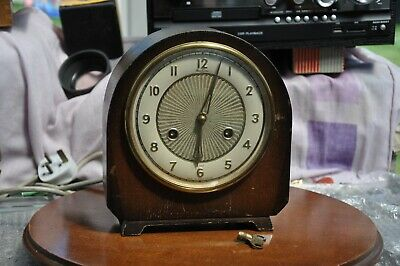 1950's Perivale Clock Co. 'Bentima' Visiable Escapement 8-Day Mantel Clock