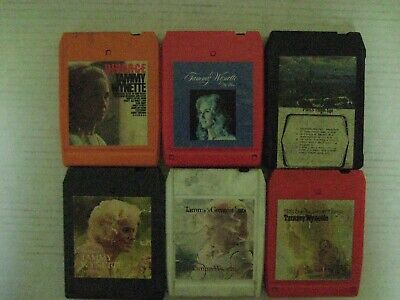 6 Vintage Tammy Wynette  8 Track Tapes-In Good Condition!