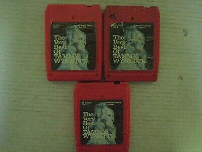 """3 Vintage Tammy Wynette """"The Very Best Of Vols. 1, 2 & 3""""  8 Track Tapes"""