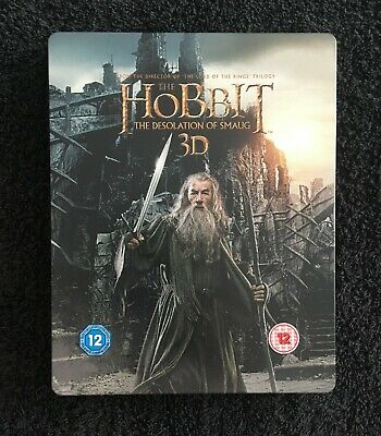 The Hobbit - The Desolation of Smaug 3d & 2d Blu ray steelbook