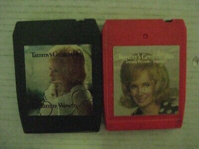 """VINTAGE TAMMY WYNETTE """"GREATEST HITS VOL 1 & ll""""  8 TRACK TAPES"""
