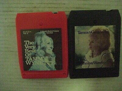 2 Vintage Tammy Wynette  8 Track Tapes--In Good Condition!