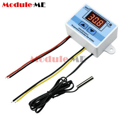 Digital LED Temperature Controller 220V 10A Thermostat Control Switch Probe M
