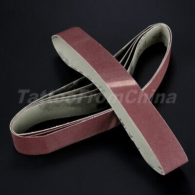 120# Grit Sander Sharpening Sanding Papers Abrasive Belts Polishing Tool 5pcs