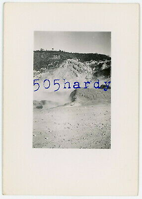 WWII US GI Photo - Action Shot 540th Engineers Blast Quarry Rock Francolise #1