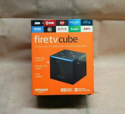 Amazon Fire TV Cube with Alexa and 4K Ultra HD with Volume control remote