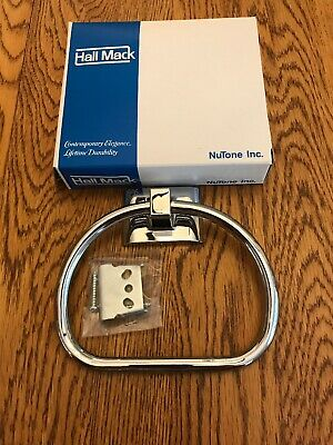 Vintage Hall Mack 686 Coronado Polished Chrome Towel Ring  NOS NIB