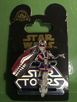 Disney~Star Wars~STAR TOURS~*STAR SPEEDER & DROID*~MOVEABLE PIN~2011~ON CARD