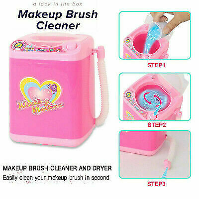 Beauty Blender Mini Washing Machine - Makeup Brush Cleaner w/BATTERIES & CLEANER