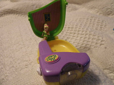 Polly Pocket Vintage 1998 Fan Flashlight With Polly Doll Rare