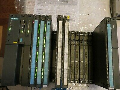 Siemens S7/400 Rack w/CPU 414-2, 452, 443-1, 431, 460 and IO modules Nice Tested
