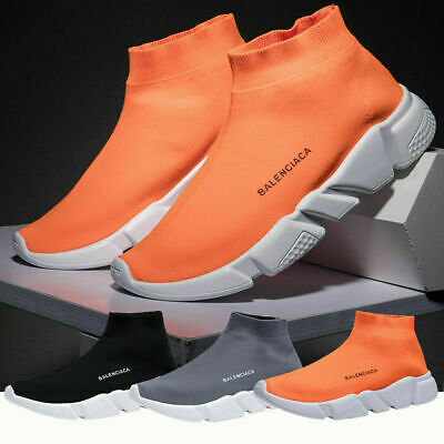Mens Sneakers Trainers Sock Running Comfy Speed Knit Gym Casual Shoes Size 11 12