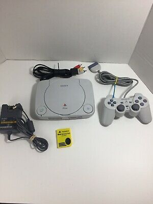 Sony PlayStation 1 PS1 Slim PSone Console! Complete w Controller! ~ Works Great!