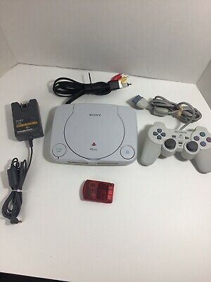 Sony PlayStation 1 PS1 Slim PSone Console! Complete w Controller Works Great! -1