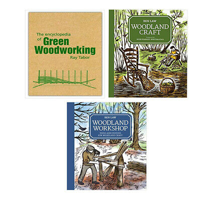 Woodsman,Woodland Craft, Encyclopedia Green Woodworking collection 3 books NEW