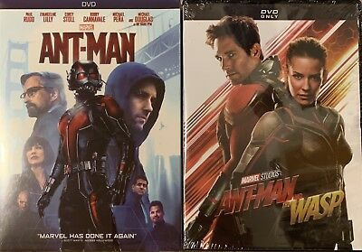 Marvel's: Ant-Man / Ant-Man and the Wasp DVDs (Free USPS First Class Shipping!)