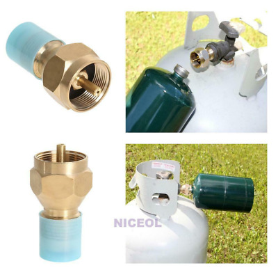 Universal Gas Refill Adapter Valve For Camper Disposable Propane Bottle Cylinder