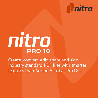 Nitro Pro 10 PDF 64bit Windows Create Edit Convert Prepare & Sign Files Download