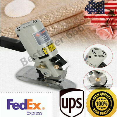 90MM Rotary Blade Electric Fabric Cutter Round Cut Cloth Cutting Machine 110V US