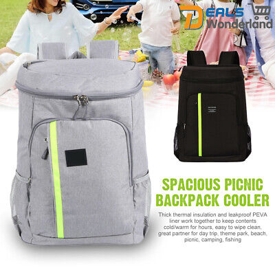 32.8L Waterproof Insulated Cooling Backpack Picnic Camping Rucksack Cooler Bag