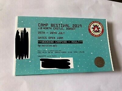 1 Adult Camp Bestival 2019 Weekend Camping Ticket