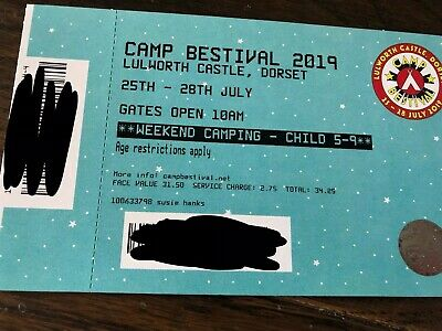 1 Child (aged 5-9 years) Camp Bestival 2019 Weekend Camping Ticket