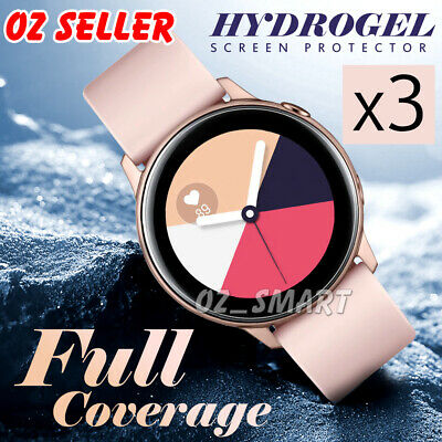 3x SAMSUNG GALAXY WATCH ACTIVE HYDROGEL AQUA FLEXIBLE Crystal Screen Protector