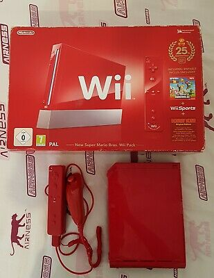 console nintendo wii 25th Anniversary new super mario bros rouge collector
