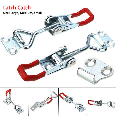Latch Catch Galvanized Iron Cabinet Boxes Handle Toggle Lock Clamp Hasp UK