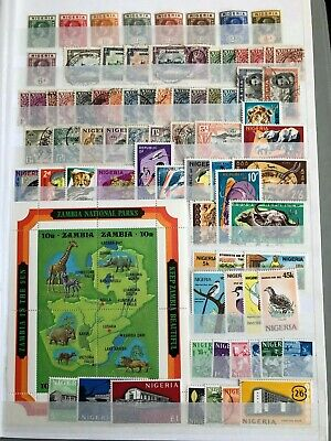 British Commonwealth Nigeria Mainly Mint Mounted Selection On Stock Sheet