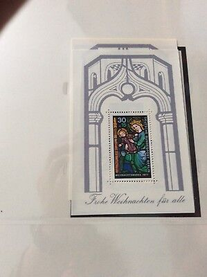 Berlin 1977 .    Christmas mini sheetunmounted  mint stamp