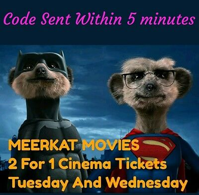 Tuesday And Wednesday Cineworld, Odeon, Vue, Showcase - Must use within 6 days