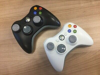 2x Official Microsoft Xbox 360 Wireless Controller Gamepad - Used Condition