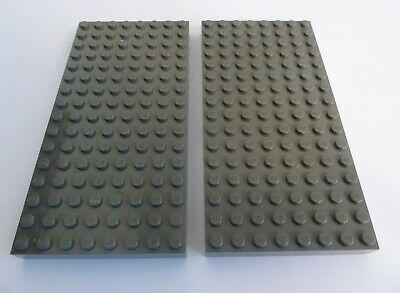LEGO 2 x Bauplatte dick althell grau oldgrey thick baseplate brick 4x6 2356