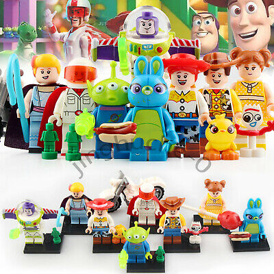 8Pcs Toy Story Minifigures Disney Buzz Lightyear Woody  Building Blocks Toys