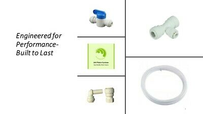 """Refrigerator Ice Maker Water Line Installation Kit for RO (John Guest 1/4"""" QC)"""